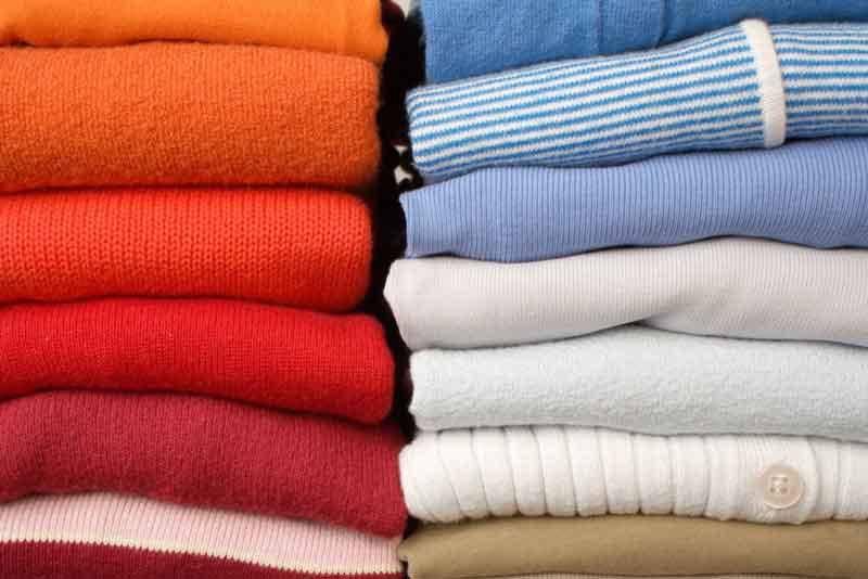 was regels kleren kleuren vouwen