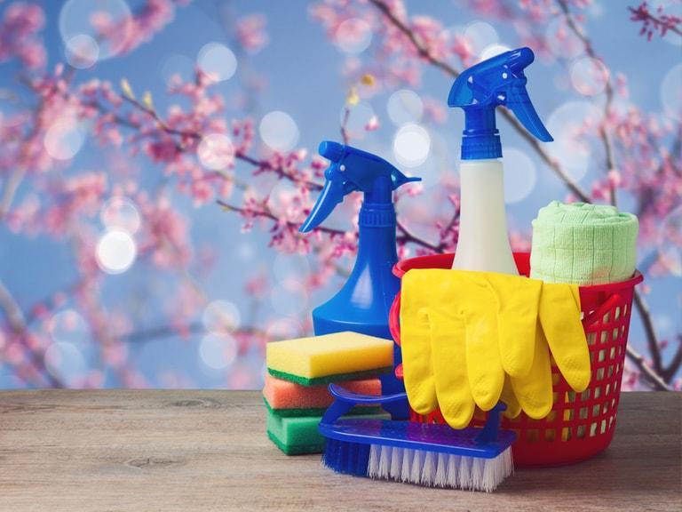 voorjaarsschoonmaak, spring cleaning tools